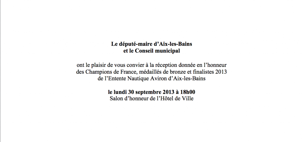 Invitation mairie