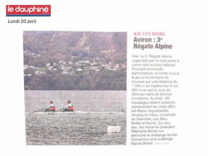 Régate Alpine 2015