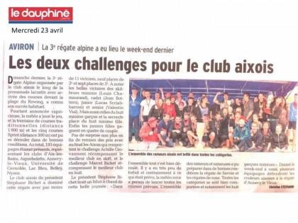 régate Alpine d'Aix les Bains